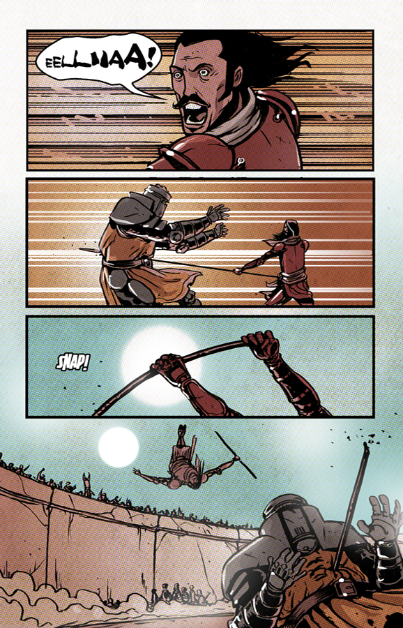 TRIAL BY COMBAT SEQUENTIAL KILLUSTRATIONS